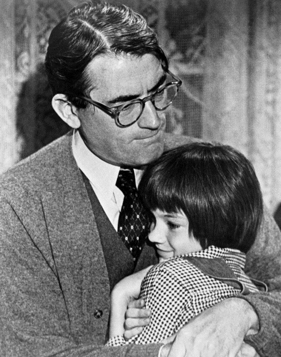 Vater und Tochter  Gregory Peck als Atticus Finch, Mary Badham als Jean Louise «Scout» Finch