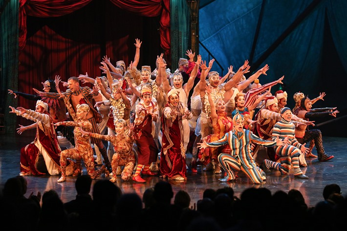 Premiere von Kooza des Cirque du Soleil am 06.11.2014 im Grand Chapiteau in Duesseldorf.