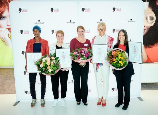 V.l.n.r.Waris Dirie, Elisabeth Schöppner, Doreen Perwas, Gabriele Möhlke, Sunny Graff